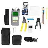 Juego de herramientas de cuchilla de fibra óptica, kit de herramientas de fibra FTTH Cortador de fibra y medidor de potencia óptica y localizador visual de fallas 1MW