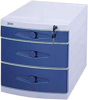 Classeurs WHLONG Trois Couches Bureau tiroir Famille Boîte de Rangement Dossier de Bureau en Plastique de Bureau Armoire d...