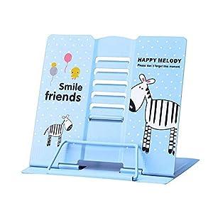 Amycute Atril de Lectura niños, Soporte de Libros Portátil Ajustable Atril para Libros Bookrest Atril de Estudio para Libros, Cuadernos y Folios