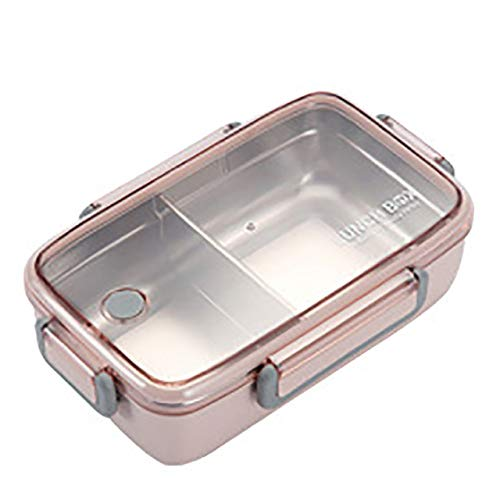 304 Nueva caja de almuerzo de acero inoxidable The Grid Seal Caja Bento independiente Enrejado...