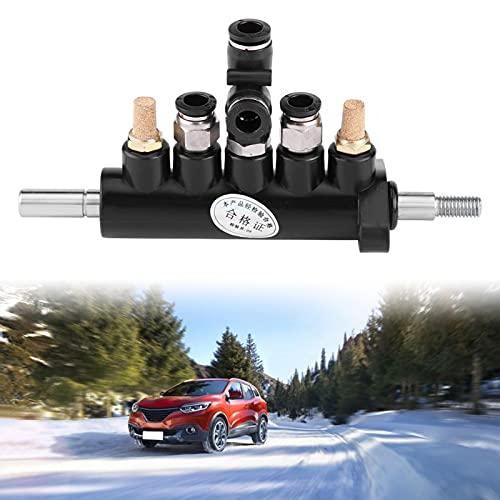 Válvula de control de aire de pedal, válvula de control de aire de neumáticos Válvula de pedal para máquina cambiador de neumáticos Aleación de aluminio Conectores de tubería de diámetro exterior(D)