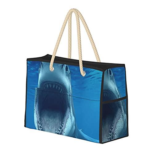 Bolsa de playa grande y bolsa de viaje para mujer – Bolsa de billar con asas, bolsa de semana y bolsa de noche – Megalodon