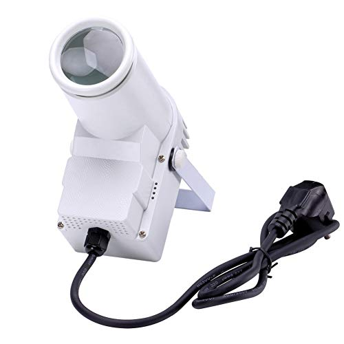 U`King Portable Stage Spotlight RGBW LED Beam Pinspot Light by DMX Control Spot Lights for Mirror Ball Stage Lighting DJ Disco Show Dance Party Wedding Home (WHITE)