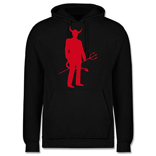 Halloween - Teufel - XS - Schwarz - der grüne Teufel - JH001 - Herren Hoodie und Kapuzenpullover für Männer