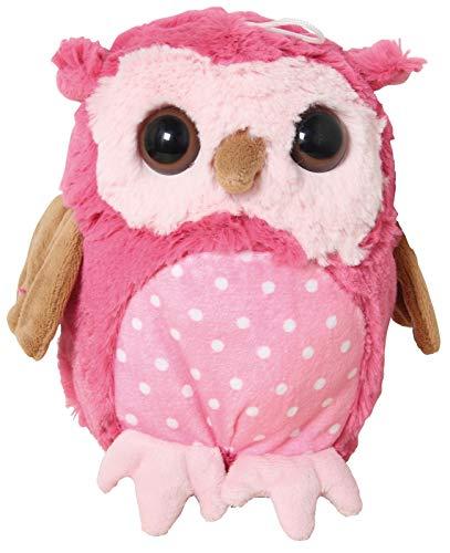 Inware 7780 - Kuscheltier Eule Olbi, pink, 20 cm, Schmusetier