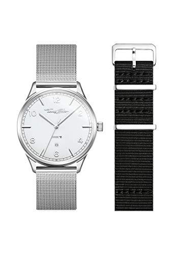 THOMAS SABO Unisex Code TS Uhr und Armband Edelstahl Milanaisearmband LOOK19_02_003