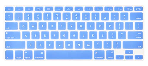 LuvCase Keyboard Cover Compatible with MacBook Pro 13/15 Inch (with/Without Retina Display, 2015 or Older Version),Older MacBook Air 13 Inch (A1466 / A1369, Release 2010-2017)(Serenity Blue)