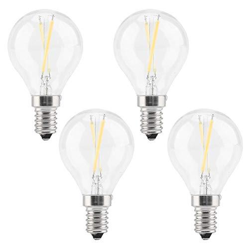 Semme heldere gloeilamp, 4-pak 2W / 4W / 6W wafelgloeilamp E14 Edison gloeilamp G45 vintage gloeilamp kaarslicht zachte warme witte lamp kaars