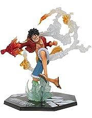YEKKU Anime Figuur Model Pop Speelgoed Fire Fist Luffy Pop Animaties Karakter Model Collectibles Speelgoed Ornament Anime Figuur Speelgoed met Kleur Geschenkdoos