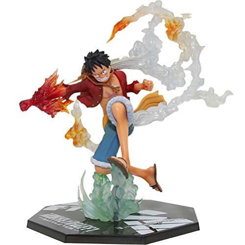 HenTuha One Piece Figura de Anime Modelo Muñeca Juguetes Fist Luffy Muñeca Animaciones Modelo de Personaje Coleccionables Juguete Ornamento Anime Figura Juguete con Caja de Regalo de Color,  17cm