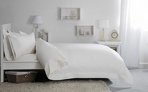 Jansons Direct Linens Belledorm Mousse à mémoire de Forme Jersey 100% Coton Classique Paire de taies d'oreiller, Blanc, Classique Taie d'oreiller