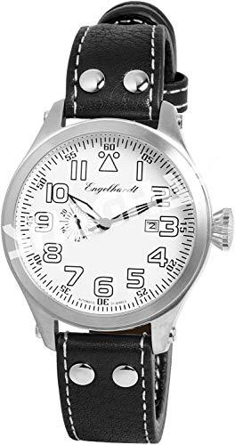 Engelhardt Herren Analog Mechanik Uhr mit Leder Armband 388722529011