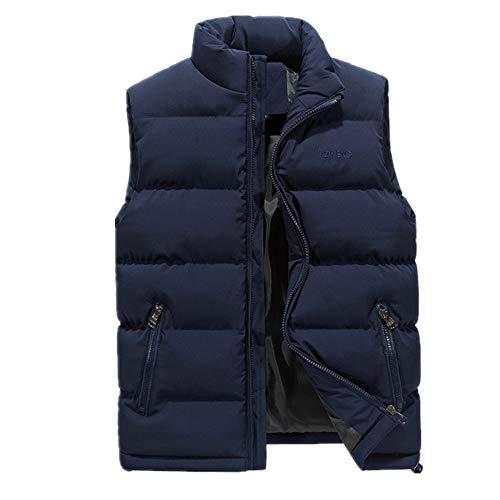 Chaleco individual de invierno de ocio sin mangas, chaleco de plumón resistente al viento cálido chaleco chaqueta casual