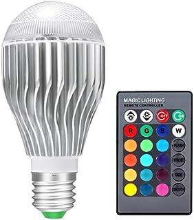 SGJFZD RGB LED Lamp 5W 85-265V E27/E26 LED RGB Light Bulb 110V 120V 220V LED Light Bulb Soptlight Remote Control 16 Colors...