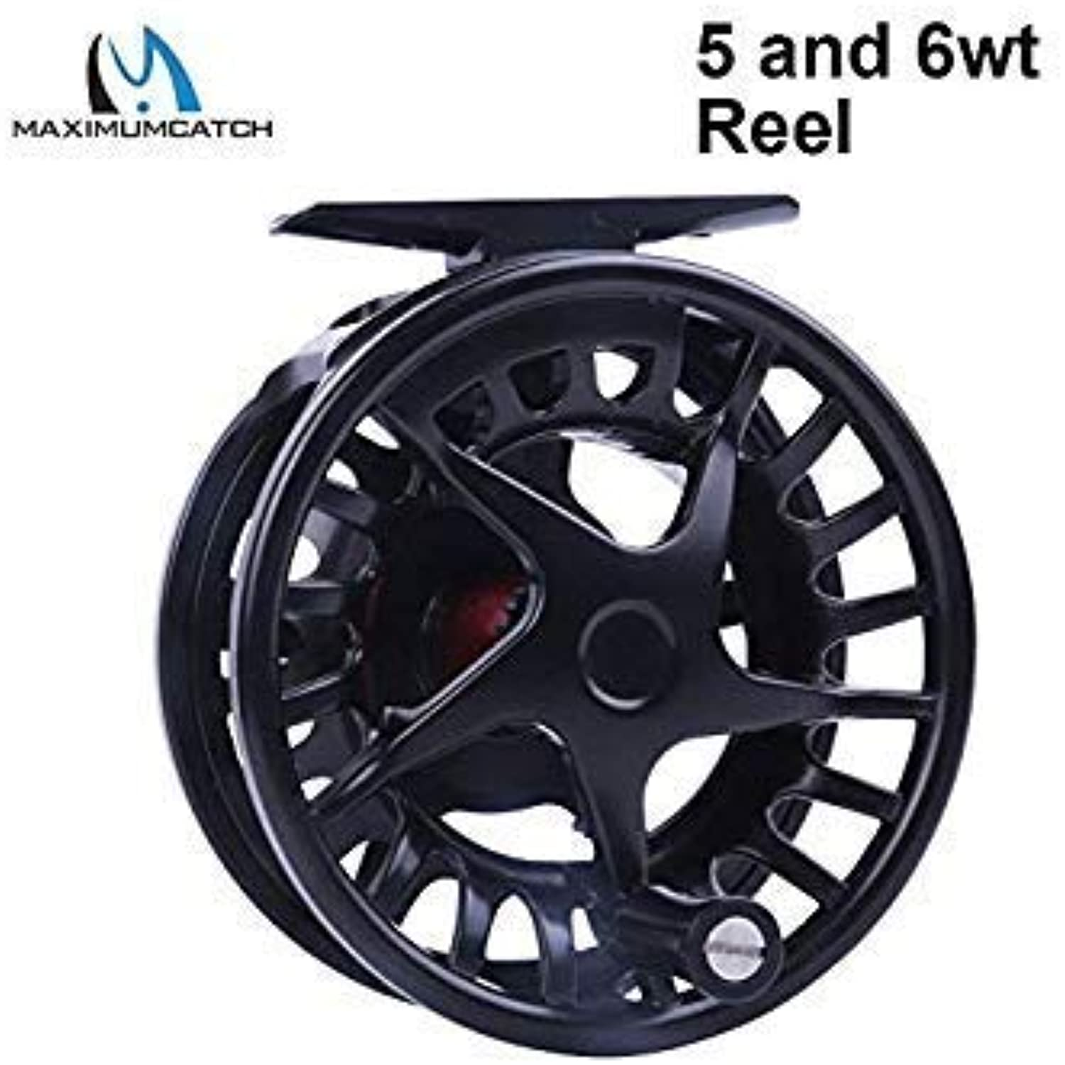 Maximumcatch DX 5 6 7 8WT Aluminum Fly Reel Right and Left-Handed Fly Fishing Reel Black color Fishing Reel color 5 and 6wt Reel