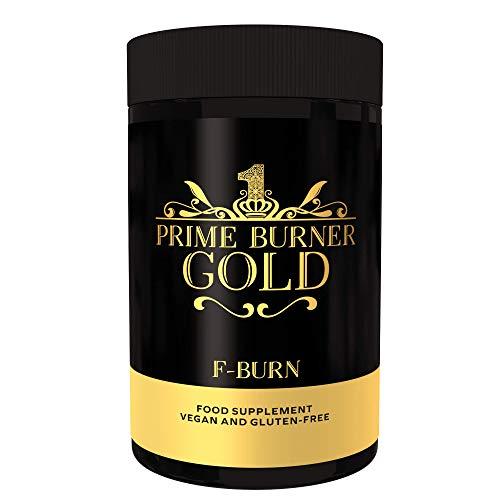 Prime Burner Gold | Quemador de Grasa 100% Natural| Fórmula Activa Para Keto Dieta| Ingredientes Naturales Quemagrasas | Vegano | Certificado Por Laboratorio | 90 Cápsulas | Fabricado en la UE