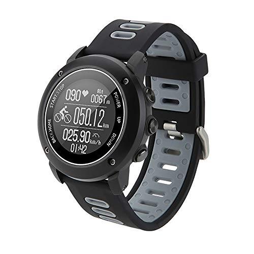 LOY Monitor de Ritmo cardíaco Reloj Deportivo con altímetro/barómetro/termómetro y GPS Tracker Relojes para Aventurero,Negro