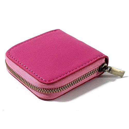 fuinloth Leather Condom Case Condom Holder Small Zipper Bag Pink
