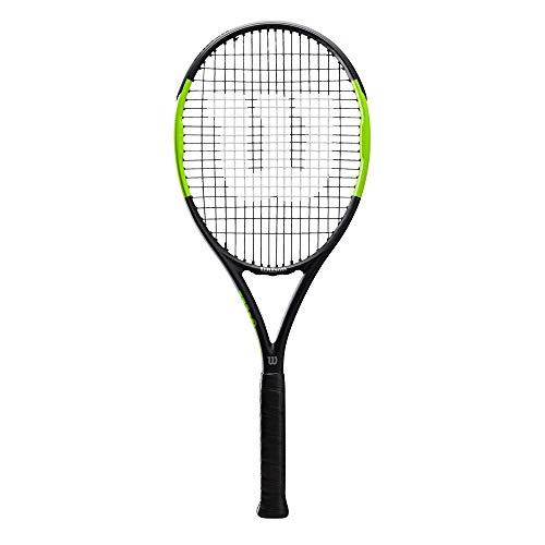 Wilson Blade Feel 100, WR018610U3 Racchetta da Tennis, Tennisti di Livello Intermedio, Fibra di Carbonio e Basalto, Nero/Lime, Manico 3