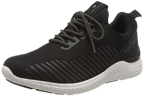 TOM TAILOR Herren 8082003 Sneaker, Schwarz (Black 00001), 42 EU