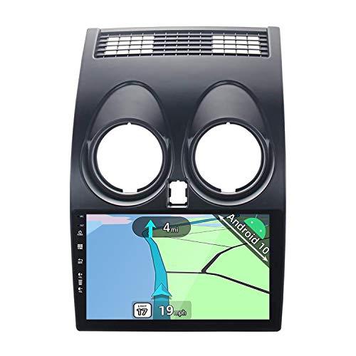 YUNTX Android 10 Autoradio Passt für Nissan Qashqai J10 (2008-2014) - 9 Zoll - 2G+32G - Kostenlose Rückfahrkamera - Unterstützt DAB+ / GPS / Lenkradsteuerung / WiFi /Bluetooth 5.0/CarPlay/USB