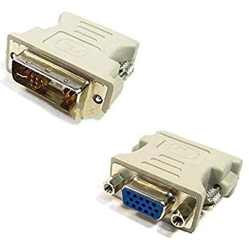 Adaptador DVI-A macho a VGA hembra DB-15 Dell 0J8461 J8461 Beige