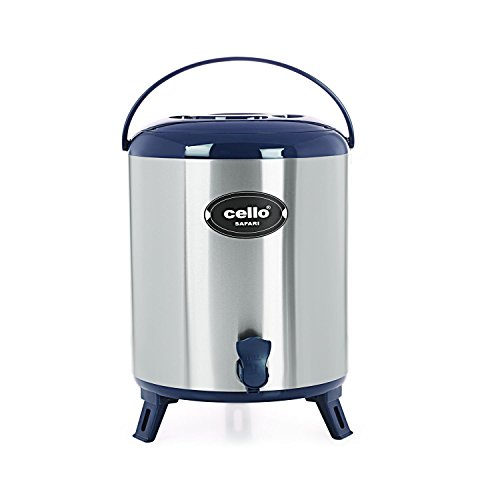 Cello Safari Stainless Steel Jug, 8 Litres, Blue