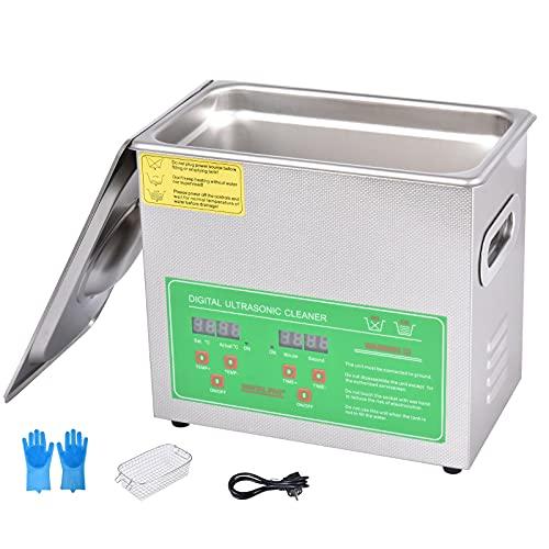 lavatrice ultrasuoni 3l Pulitore ad Ultrasuoni 3L Lavatrice ad Ultrasuoni Professionale Macchina per la Pulizia ad Ultrasuoni in Acciaio Inossidabile Pulitore ad Ultrasuoni Commerciale per Gioielli Orologi Occhiali (3L)