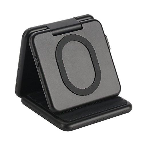 ConPush 5000mAh Portátil Cargador inalámbrico Plegable Qi Banco de energía para iPhone 8 Plus/X Samung S8 / S7 / S6 / Note 8 y Todos los Dispositivos habilitados para Qi