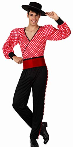 Atosa-8514 Disfraz Flamenco M-L, color rojo, (8514)