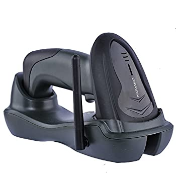 NADAMOO Wireless Barcode Scanner with Cradle 2D Cordless Bar Code Reader 400m Transmission Distance CMOS Imager Read 1D 2D QR Code Data Matrix PDF417 for Windows Mac Linux