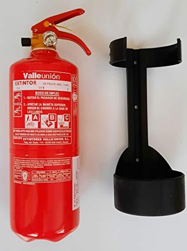 Extintor 2 kg ABC polvo incluye soporte