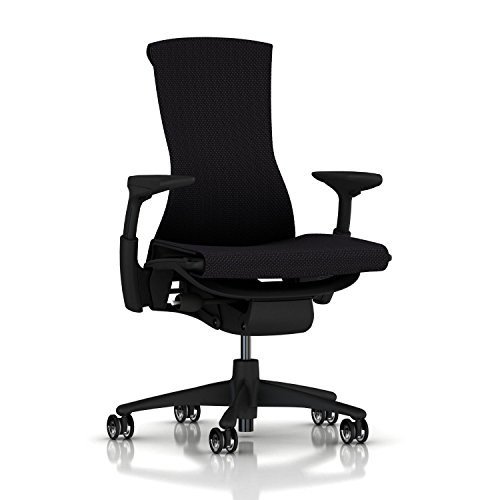 Herman Miller Embody Ergonomic Office Chair | Fully Adjustable Arms and Translucent Casters | Black Balance