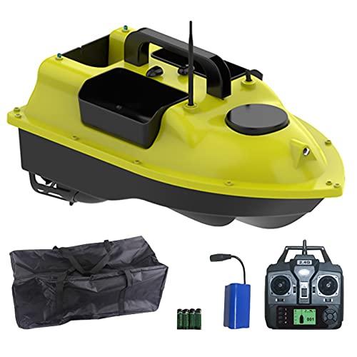 Sistema de posicionamiento de GPS de Bait Boat, Finder Fish Bait Boat Double Motors, Barco de Barco de Fish Finder con LED Navigator Light, 500m Control Remoto Pesca Bait Boat RC Boat