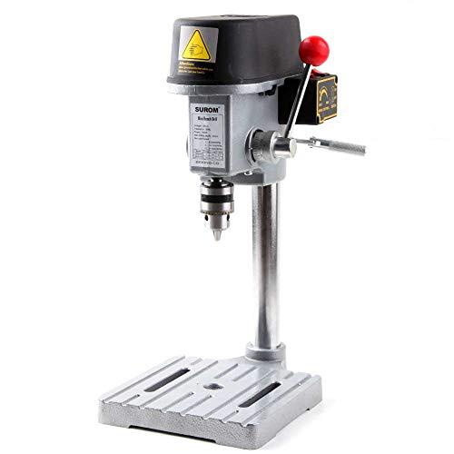 Taladradora de columna con 3 velocidades, mini banco de 340 W, 8000-16000 rpm para artesanos y aficionados.