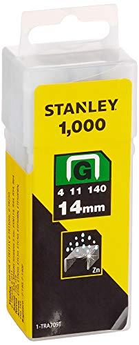 Stanley 1-TRA709T Grapas Tipo G (4/11/140), 14 mm-1000 u, 14mm, Set de 1000 Piezas