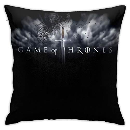 Iron Throne Detective Ygritte Kit Harington Ga-me of Thr-ones Funda de almohada para sala de estar, juego de cama 3D con antideslizante 45 x 45 pulgadas