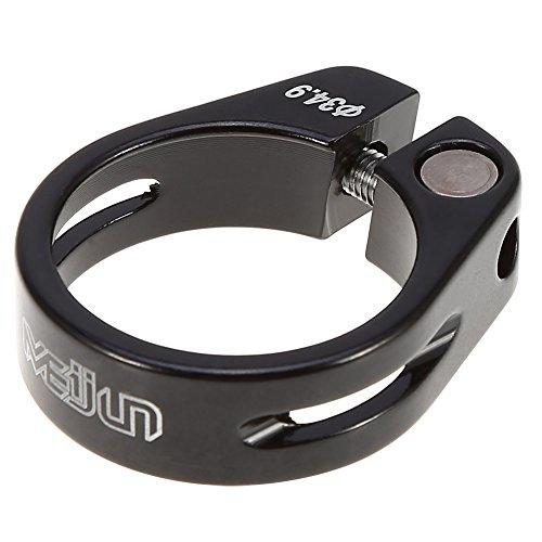 Abrazadera para sillín de bicicleta de aleación de aluminio de 34,9 mm, de liberación rápida, para bicicleta de montaña, bicicleta de carretera, casual, color negro