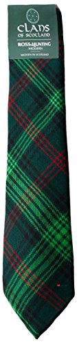 I Luv Ltd Ross Hunting Clan 100% Wool Scottish Tartan Tie