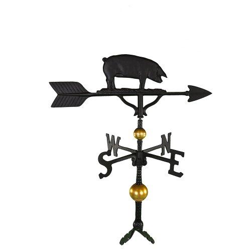 Montague Metal Products Deluxe Wetterfahne mit schwarzem Satin-Schwein, 81,3 cm