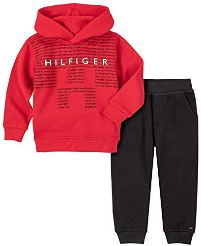 Tommy Hilfiger Baby Boys' 2 Pieces Hooded Jog Set, Scarlet Sage/Deep Black, 12M is $15.66 (69% off)