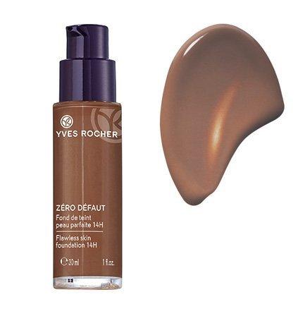 Yves Rocher COULEURS NATURE Make-up-Fluid PERFEKTE HAUT 14h Brun 800, deckende Foundation, 1 x Glas Pump-Flacon 30 ml