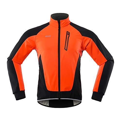 Lixada Giacca da Ciclismo da Uomo Antivento Impermeabile con Multi Tasche Maglia da Bici Termico Cappotto della Bicicletta per MTB Moto Autunno Inverno in Esecuzione