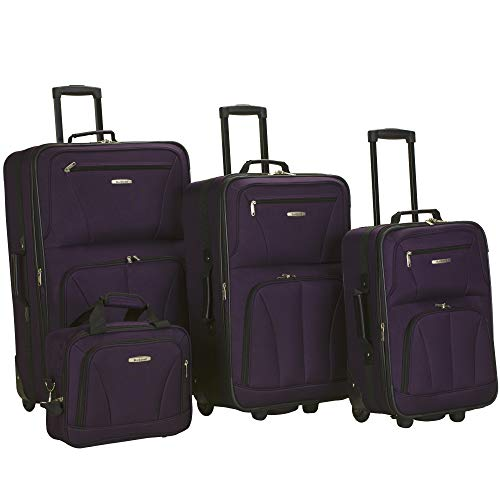 Rockland Journey Softside Upright Luggage Set, Purple
