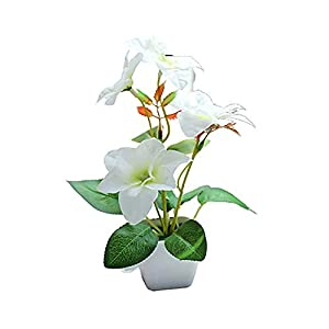 Shineweb Bonsai Artificial Flower Creative Decoration Artificial Simulation Flower for Home Office Party Wedding Display White Bougainvillea