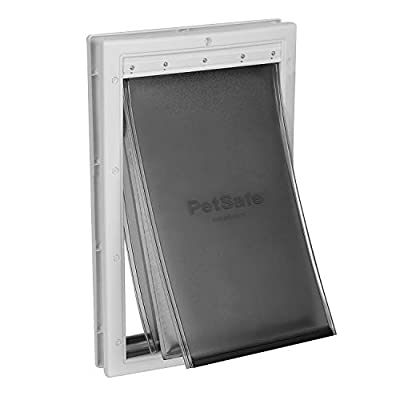 PetSafe Extreme Weather Dog and Cat Door - Aluminum or Plastic Pet Door - Small, Medium, Large and X-Large