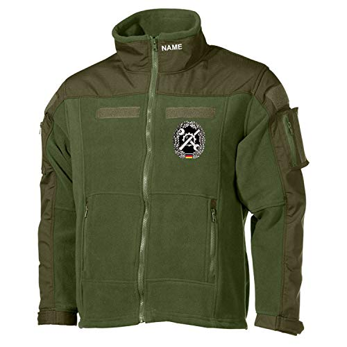 Copytec Combat Fleecejacke Instandsetzung Inst Schrauber GRATIS Name Bundeswehr #30488, Größe:4XL, Farbe:Oliv