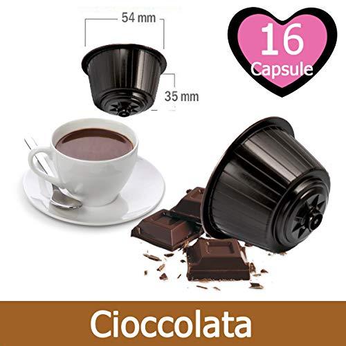 16 Capsule Cioccolato Compatibili Nescafè Dolce Gusto