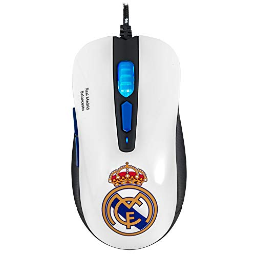Mars Gaming MMRM, Ratón Gaming Oficial Real Madrid, Ergonómico, PC/PS4/PS5/XBOX