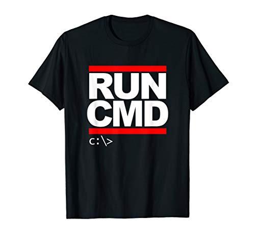 Run CMD T Shirt Computer Nerd T Shirt T-Shirt
